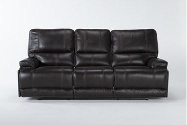 "Watkins Coffee 89"" Power Reclining Sofa With Power Headrest, Built-In Battery & USB"