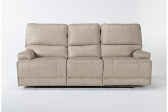 Watkins Linen Power Reclining Sofa With Power Headrest & Usb