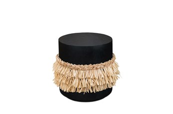 Black Drum Skirt Accent Table