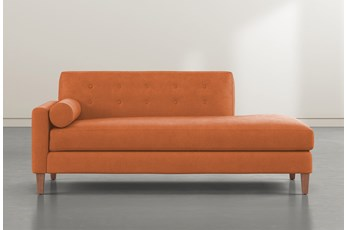 Serene Orange Left Arm Facing Accent Chaise