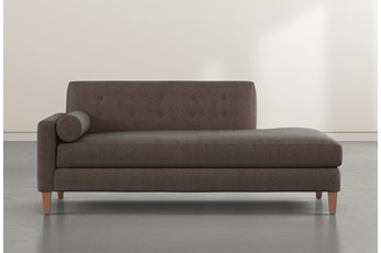 Serene Brown Left Arm Facing Accent Chaise