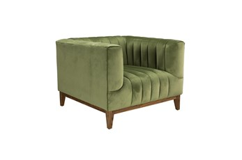 Olive Green Channel Accent Chair