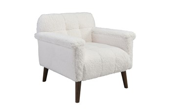 White Sherpa Club Chair