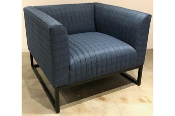 Denim Blue Channel Accent Chair