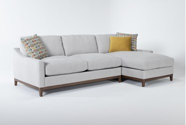 """Besom 2 Piece 112"""" Sectional With Right Arm Facing Chaise"""