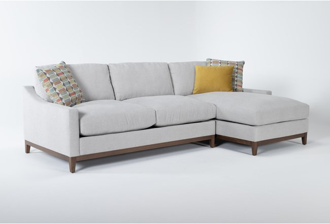"""Besom 2 Piece 112"""" Sectional With Right Arm Facing Chaise - 360"""