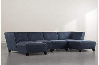 Benton IV 4 Piece Sectional With Double Chaise