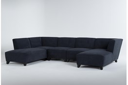 Benton IV 5 Piece Sectional With Left Arm Facing Bumper