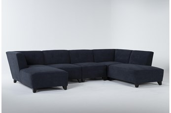 "Benton IV 5 Piece 130"" Sectional With Right Arm Facing Bumper"