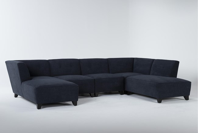 """Benton IV 5 Piece 130"""" Sectional With Right Arm Facing Bumper - 360"""
