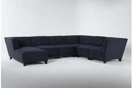 """Benton IV 6 Piece 130"""" Sectional With Left Arm Facing Chaise"""