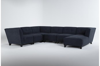 "Benton IV 6 Piece 130"" Sectional With Right Arm Facing Chaise"