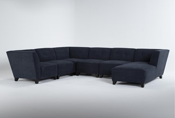 """Benton IV 6 Piece 130"""" Sectional With Right Arm Facing Chaise"""