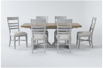 Ozzie Grey 7 Piece Dining Set