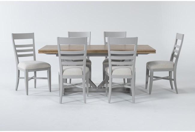 Ozzie Grey 7 Piece Dining Set - 360