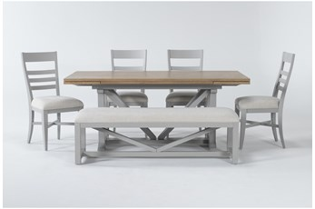 Ozzie Grey 6 Piece Dining Set