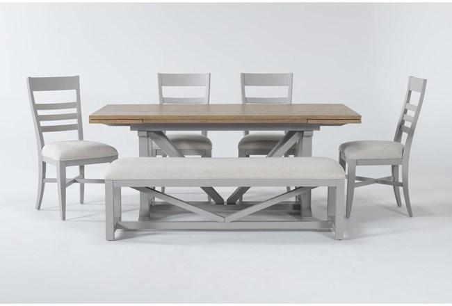 Ozzie Grey 6 Piece Dining Set - 360