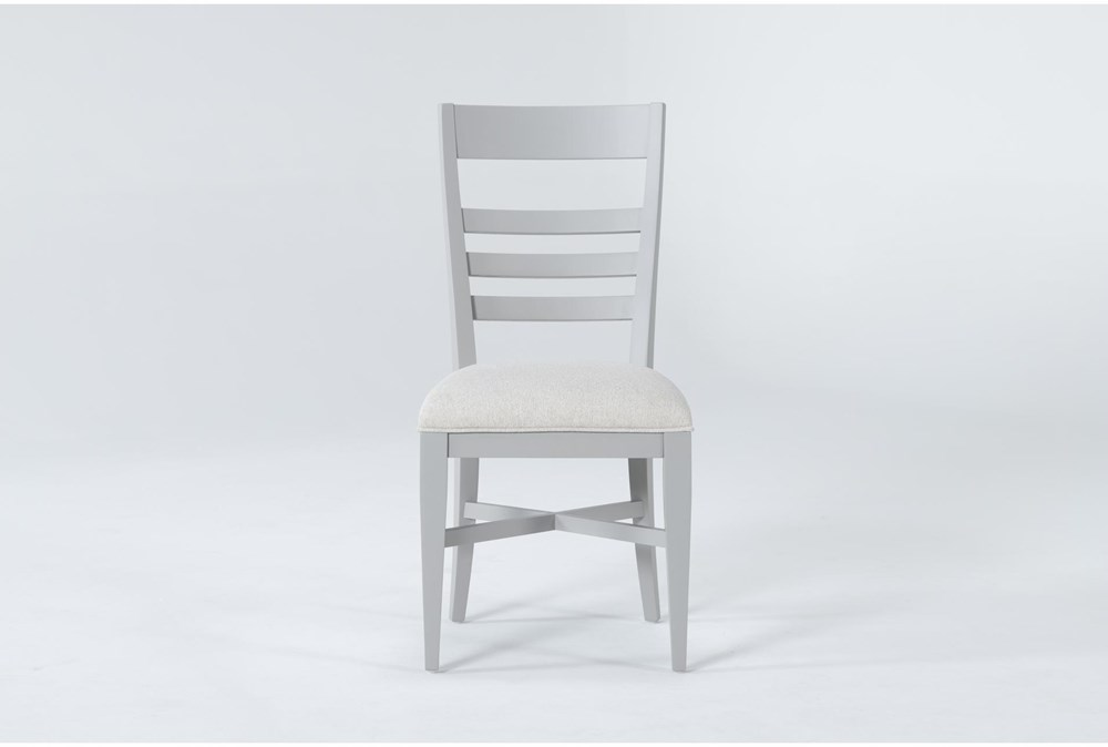Ozzie Grey Upholstered Laddeback Dining Side Chair