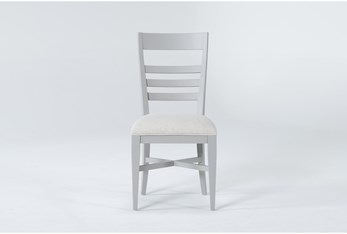 Ozzie Grey Upholstered Ladderback Dining Side Chair