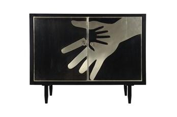 Hands Bone Inlay Cabinet