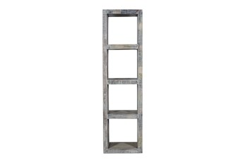 "Whie Wash Narrow 70"" Bookcase"