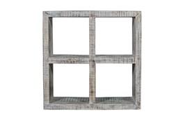 "White Wash Cube 36"" Bookcase"