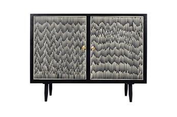 Black Bone Inlay Cabinet