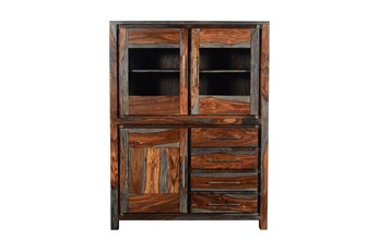 Shesham Glass Door Cabinet