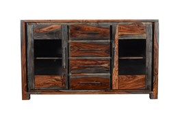 "Shesham Glass Door 57"" Sideboard"