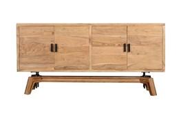 "Mid Century Blond Wood 70"" Sideboard"