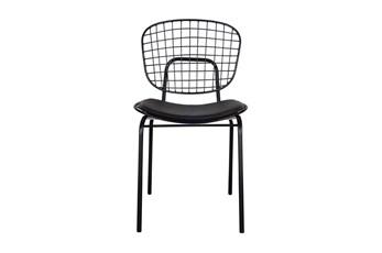 Black Metal Chair With Cushion