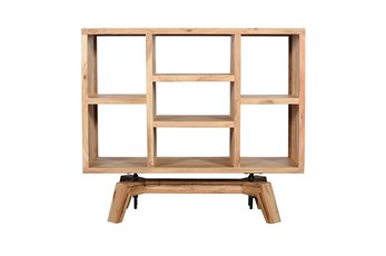 """Blonde Wood Cube 42"""" Bookcase"""