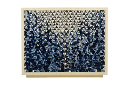 Blue Bone Inlay Pattern Cabinet