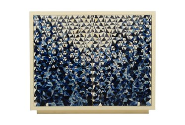 Blue Bone Inlay Pattern Cabinet