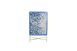 Blue Bone Inlay Tall Bar Cabinet