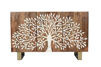"Tree Of Life Bone Inlay 57"" Sideboard"