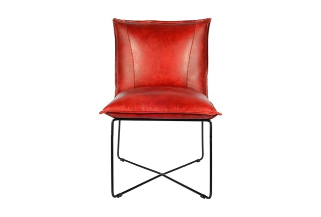 Red Leather Chair  - 360
