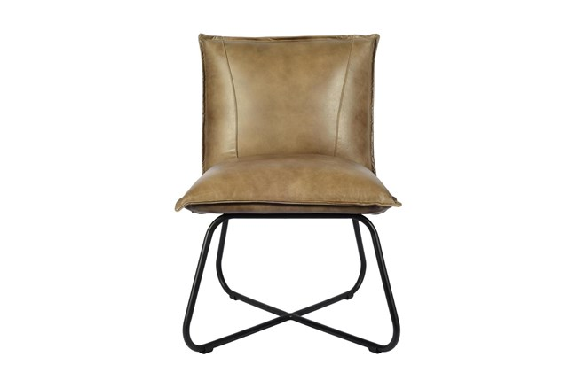Brown Leather Chair - 360