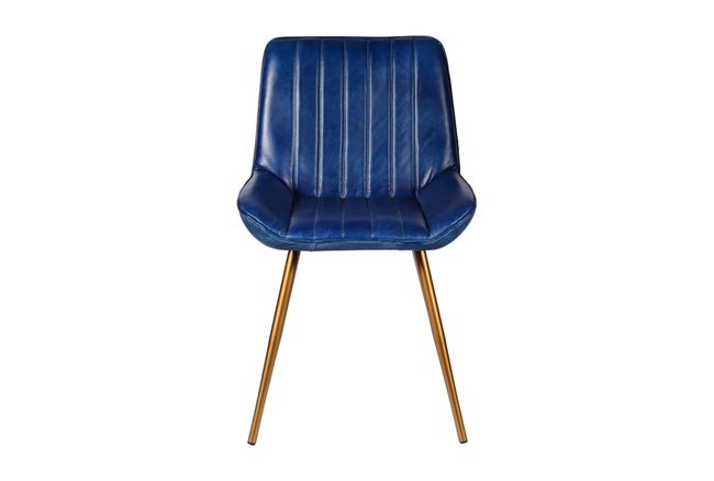 Blue Leather Chair  - 360