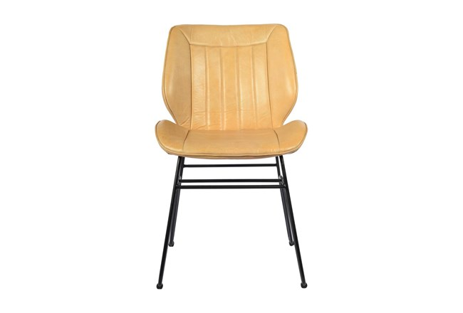 Tan Leather Chair  - 360