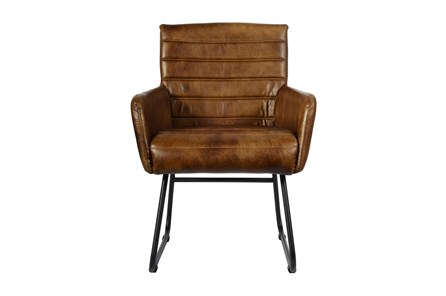 Espresso Leather Chair - Main