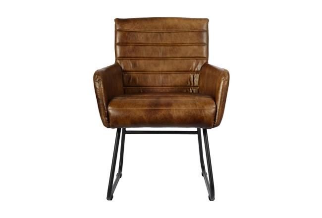 Espresso Leather Chair  - 360