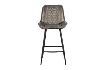 Quilted Leather Bar Stool