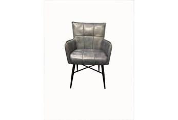 Tan Leather Iron Chair