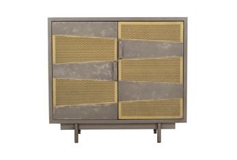 2 Door Mixed Metal Cabinet