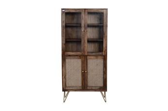 Cane + Mango Wood Cabinet