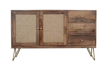 Cane + Mango Wood Sideboard
