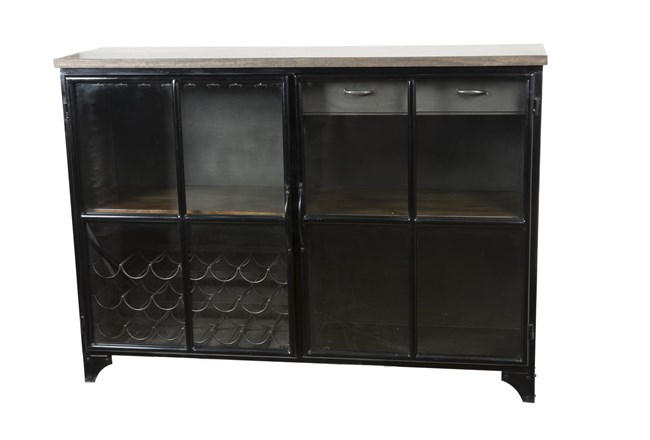 Iron And Wood Bar Cabinet - 360