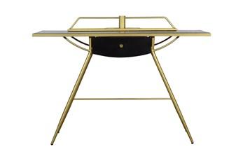 """Wood + Gold Metal 47"""" Desk"""