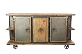"Iron Wooden 75"" Sideboard"